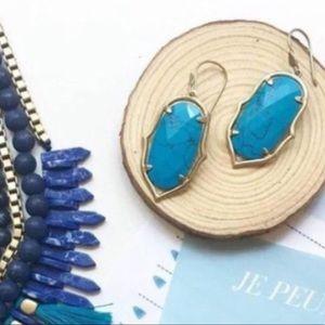 Stella & Dot Turquoise Amala Drop Earrings